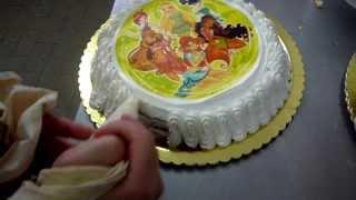 Torta per Compleanno Bambini Nutella e Panna con Pan di Spagna