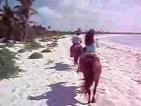 Horseback Riding on the Beach in Punta Venado Mexico