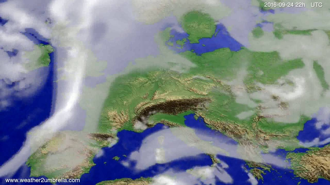 Cloud forecast Europe 2016-09-22