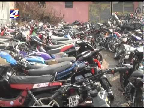 Intendencia procura solución jurídica para destino final de motos incautadas