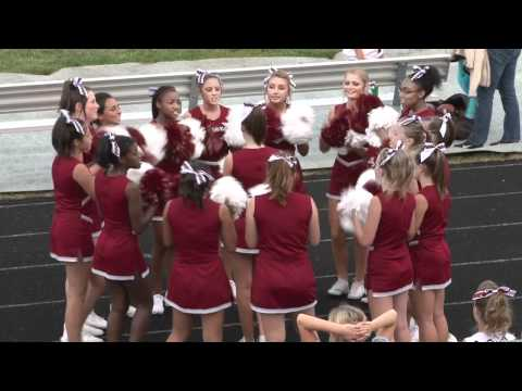 sideline cheers - http://cwmediapro.com/dance.aspx - PNHS JV Cheerleaders performing sideline dance routine during Plainfield North football game 08-26-2011. Plainfield North ...