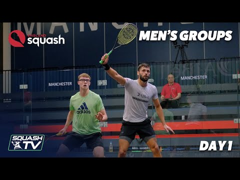 AJ Bell England Squash Challenge 2020 - Men's Groups - Day 1 Roundup