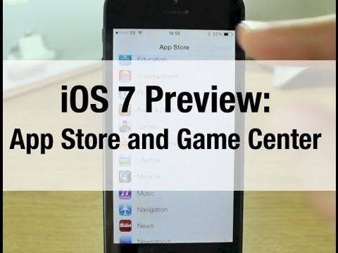 iOS 7 Preview: App Store and Game Center