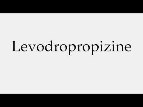 How to Pronounce Levodropropizine