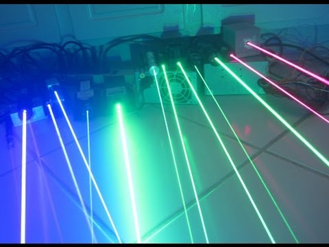 Lasers: What Can Certain mW do? (200mW-2W of Red, Green, and Blue Lasers)