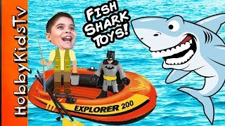 It's Shark Week and the HobbyKids go fishing for toys in their boat in the HobbyKidsPool. There they find sharks, toys and a bunch of crazy fun! This idea created ...