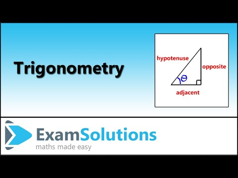 Trigonometrie - Rechtwinklige Dreiecke - Benennen der Seiten: ExamSolutions