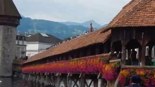 スイス発  華やかになったカペル橋とピラトゥスとのコラボが素敵。【スイス情報.com】