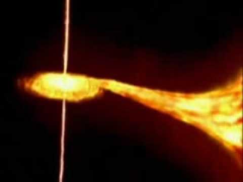 Černá díra si pochutnává na hvězdě