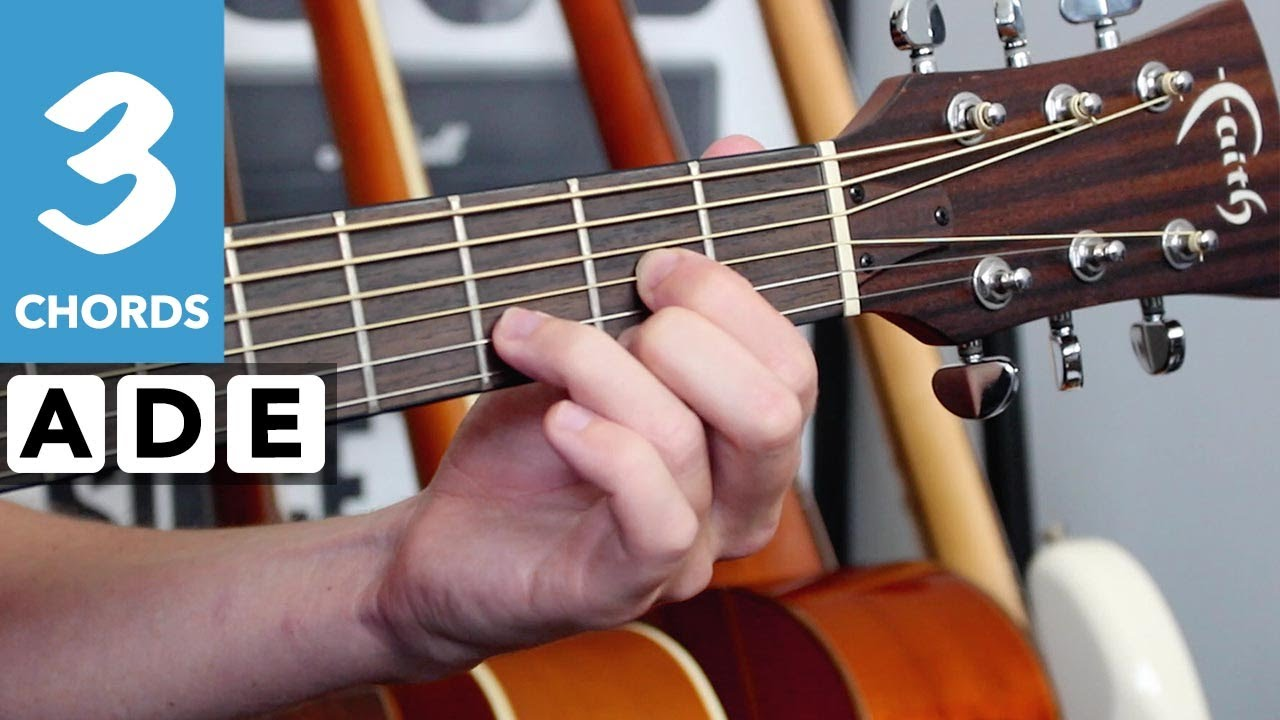 U2 – Desire Guitar Lesson Tutorial – Play 10 songs with 3 chords series