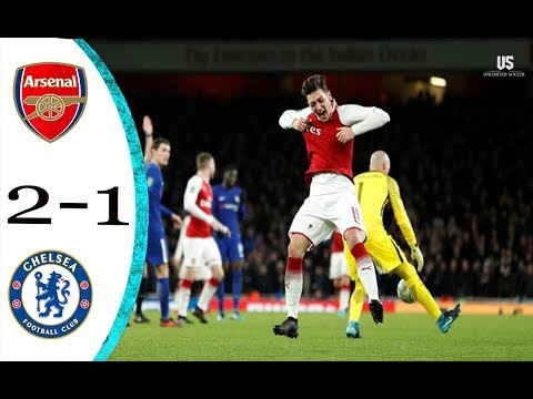 Arsenal vs Chelsea 2 1 All Goals & Highlights 24 01 2018