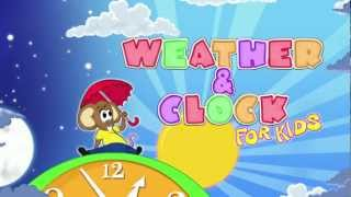 Weather and Clock for Kids YouTube video