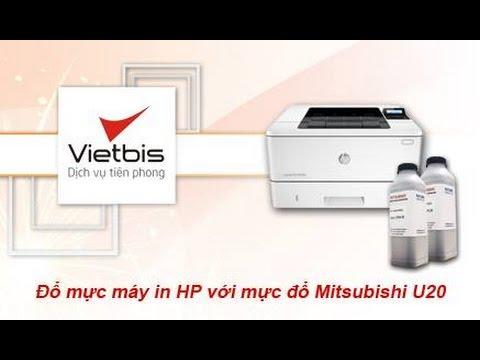 Đổ mực máy in HP với mực đổ Mitsubishi U20