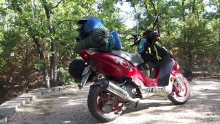 10. Adventure Scooter Camping Trip   2004 Kymco Super 9s