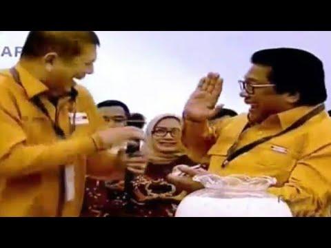 Kocaknya Oesman Sapta saat undian no urut parpol pemilu 2019