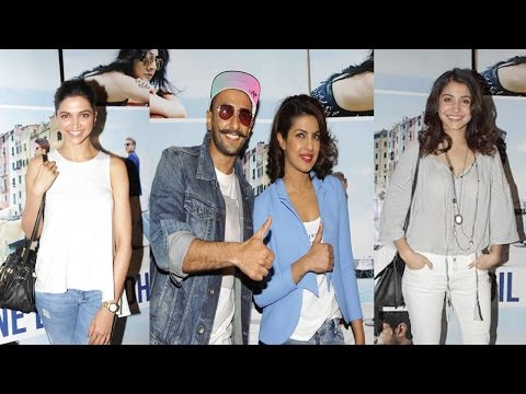 Deepika Padukone, Anuskha Sharma, & Others At Screening Of Film Dil Dhadkne Do
