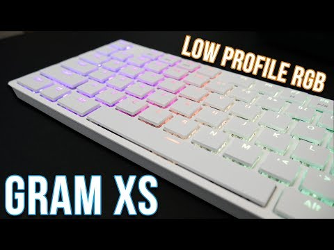 Low Profile RGB Mechanical Keyboard - Tesoro Gram XS