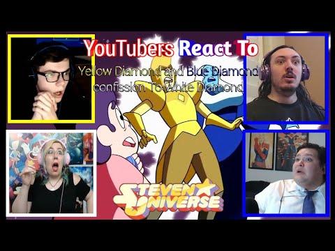 YouTuber's React To Blue & Yellow Diamond's Confession To White Diamond (Steven Universe)