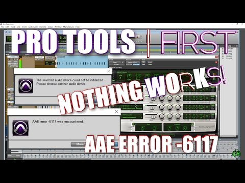 PRO TOOLS | FIRST AAE ERROR -6117 FIX (when you already have an ASIO Interface/ASIO4ALL)