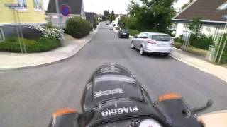1. Piaggio Typhoon 50 wheelie test