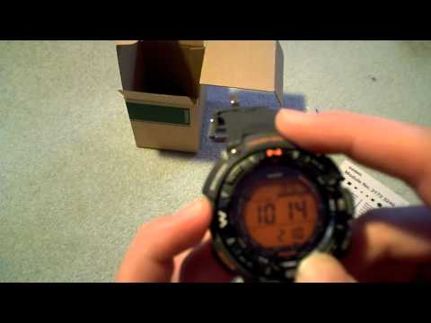 Casio Protrek / Pathfinder PRG-240-8ER Solar Watch - Unboxing & Review