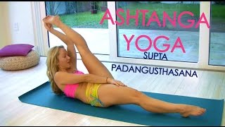 Ashtanga Yoga: Supta Padangusthasana with Kino -