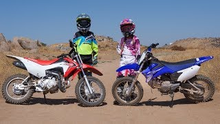 10. 2017 Honda CRF110F vs. Yamaha TT-R110E Motorcycles Are For Kids