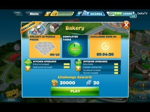 Cooking Fever Bakery Restaurant Challenge Part 2 | Level 4, 5, 6 Cooking GamePlay