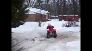4. Matt on a 2006 Arctic Cat DVX 90 Quad