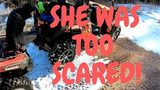3. When you bring your scared wife to the trails | CFMOTO Zforce test and ride with griz | steep climbs