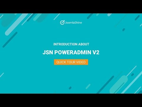 JSN РоwеrАdмin 2 Quiск Тоur | Jоомlа Ехтеnsiоn Vidео - DomaVideo.Ru