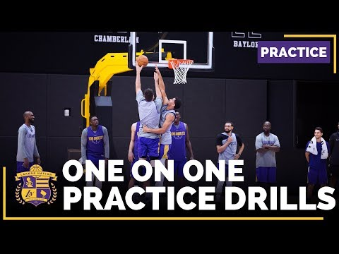 Video: Lakers Practice: 1-On-1 Drills