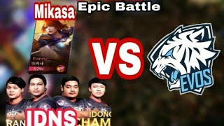 Download Video IDNS + Mikasa 미카사 Vs EVOS ( OURA & JESS TOP GLOBAL s6 & s7 ) MP3 3GP MP4