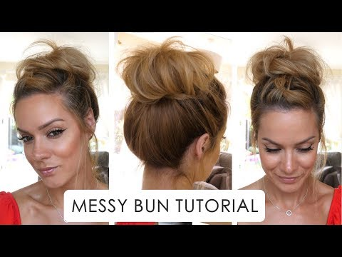 How To: Messy Bun Hair Tutorial | Shonagh Scott
