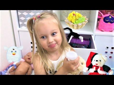 Алиса показывает свои ИГРУШКИ !!! Мягкие игрушки и Фёрби для детей My Toys !!! (видео)