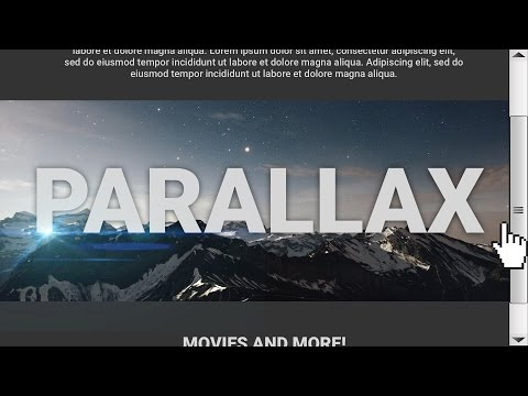 How To Create A Cool Parallax Scrolling Effect For Your Websites
