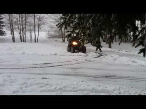 SMC 720R na sněhu