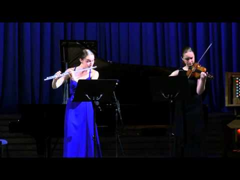 Wolfgang Amadeus Mozart. Duet For Flute And Violin