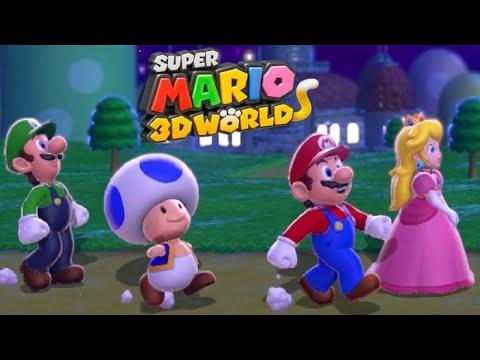 Super Mario 3D World - Full Game Co-op Walkthrough (All Green Stars) (видео)
