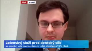 Zelenskyj složil prezidentský slib. A chce zachovat prozápadní orientaci země