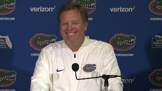 Head coach Jim McElwain meets with the media to discuss the Orange & Blue Debut.