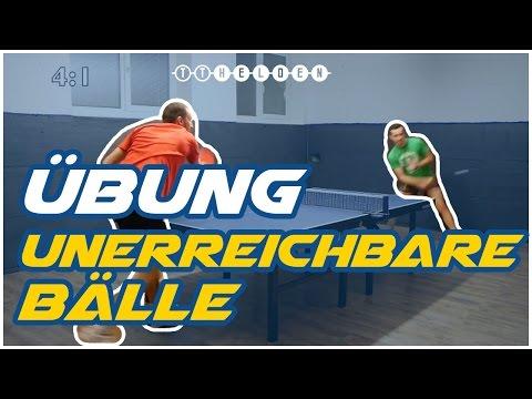 Tischtennis Übung: Bälle spielen, die der Gegner nicht mehr erreicht TT Helden