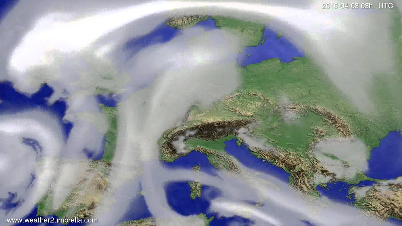 Cloud forecast Europe 2016-03-31