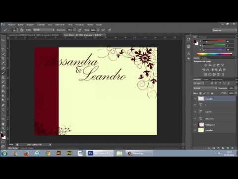 Como fazer um convite de casamento no Photoshop Cs6
