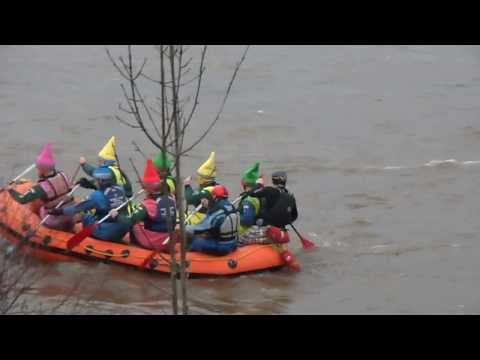 WHITE WATER RAFTING IN FUNNY HATS