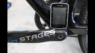 This video goes through the steps of connecting a power meter (Stages power meter in this video) to a Garmin Edge 520.