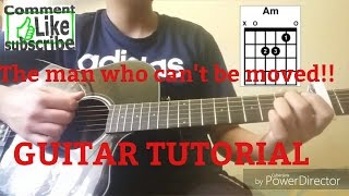 Video Guitar Tutorial! The Man Who Can't Be Moved MP3, 3GP, MP4, WEBM, AVI, FLV April 2018