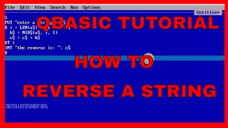 QBASIC PROGRAMMING TUTORIAL- HOW TO REVERSE A STRINGQBASIC tutorial for begineer slc. QBASIC tutorial on how to reverse a string input by the user. qbasic slc,QBASIC for SLC,reverse string in qbasic,qbasic example,Qbasic Nepali,qbasic for school,qbasic tutorialHow to reverse a string in qbasic  Reverse a string in qbasicQBASIC for SLC,9,8,7 class.