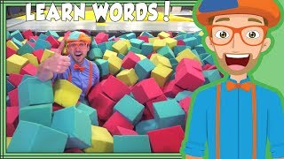 Learning Words with Blippi at the Trampoline Park | Videos for Toddlers