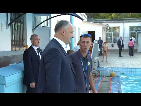 "The President of Moldova visited the Chisinau sports school named after. George Osipov, where the international water polo championship ""President's Cup"" will take place"